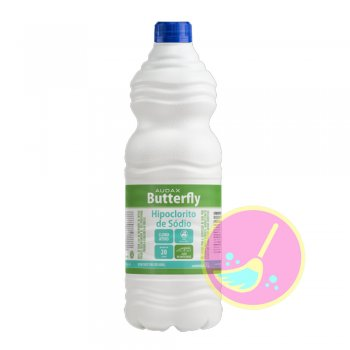 Hipoclorito De Sódio Butterfly 5% 1L - Audax CO