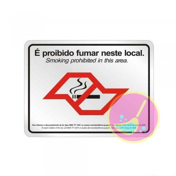 180SP - Placa Alumínio 25X20cm Lei SP Antifumo - Sinalize